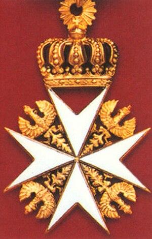 Order of Saint John (Bailiwick of Brandenburg) - The cross of a Knight of Justice.