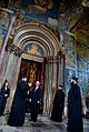 Joe Biden is led on a tour of the Decani Monastery 2009.jpg