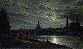 Johan Christian Claussen Dahl - Utsikt på Dresden i måneskinn.jpg