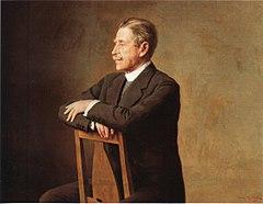 Verner von Heidenstam (1859-1940);   maling af Johan Krouthén på Charlottenborgs slot.