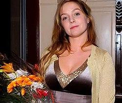 Johanna Sällström efter en premiär 2006.