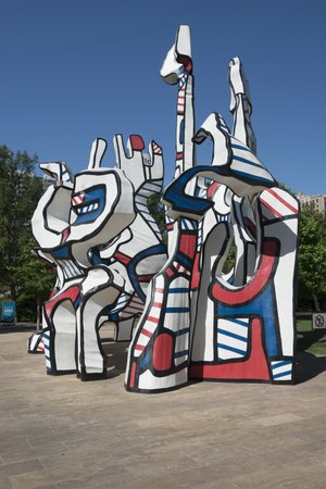 "John Dubuffet's ""Monument Au Fantome"" sculpture in Houston, Texas's Discovery Green Park. Its title means ""Monument to the Phantom"" or imaginary city, in French LCCN2015630415.tif"