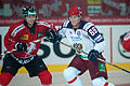 John Gobbi (L), Nikita Dvurechenskiy (R) - Switzerland vs. Russia, 8th April 2011 (1).jpg