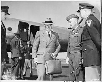 John J. McCloy - McCloy arrives at RAF Gatow in Berlin to attend the Potsdam Conference in 1945.