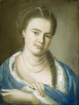 Mather Brown - 1763 portrait by John Singleton Copley of Elizabeth Byles Brown, Mather Brown's mother.