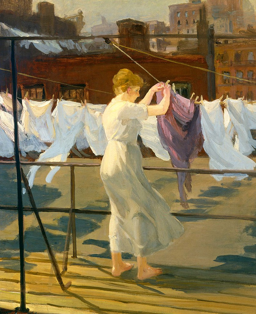 https://upload.wikimedia.org/wikipedia/commons/thumb/0/0a/John_Sloan_-_Sun_And_Wind_On_The_Roof.jpg/837px-John_Sloan_-_Sun_And_Wind_On_The_Roof.jpg