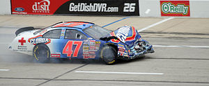 Jon Wood - 2007 Busch car after a wreck