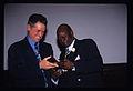 Jonathan Demme and Frisner Augustin, New York City, November 1998.jpg