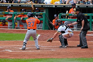 José Altuve - Altuve batting against the Pittsburgh Pirates, May 19, 2013