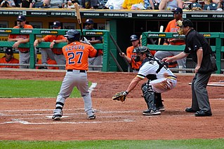 2-time winner Altuve batting against the Pittsburgh Pirates, May 19, 2013