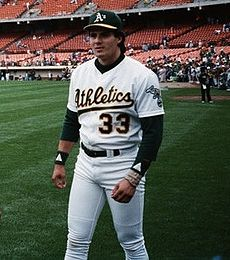 Canseco with the A's in 1989