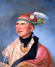 Painting of Joseph Brant by Charles Willson Peale in 1797