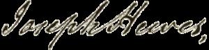 Joseph Hewes - Image: Joseph Hewes signature