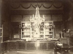 Josty - The buffet in Josty's Pavilion in 1899