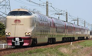 Sunrise Izumo - 285 series EMU on a Sunrise Izumo service, April 2013