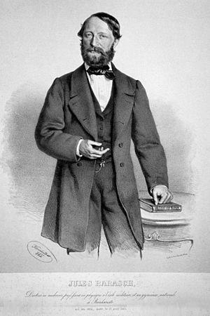 Iuliu Barasch - Juliu Barasch, Lithography by Josef Kriehuber, 1863