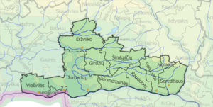 Jurbarkas District Municipality - Image: Jurbarko Rajono Seniunijos