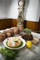"""Kök-Aladåb lax och kött. Utställningen """"Smak av svunnen tid"""" år 2007 - Hallwylska museet - 86300.tif"""