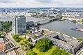 Köln-Deutz, Landeshaus, Lanxess-Tower, Caritas Altenzentrum Sankt Heribert, Alt St. Heribert, Deutzer Brücke, Rhein - Luftaufnahme-0083.jpg