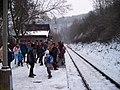 Křivoklát, Křivoklát expres (prosinec 2012), čekající lidé.jpg