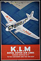 K.L.M. Royal Dutch Airline Fokker- Douglas DC2 To the Continent and the Far East.jpg