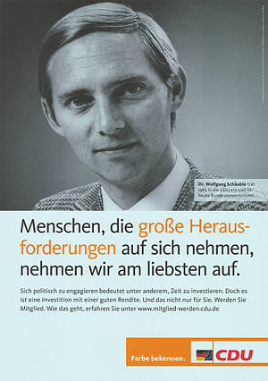 Wolfgang Schäuble - Schäuble in early years