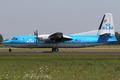 KLM Cityhopper Fokker 50 (cn 20270) PH-LXJ AMS 2006-7-18.png