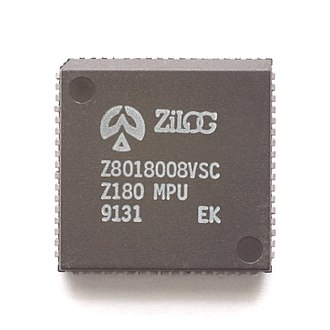 Zilog Z180 - Older Z180 in PLCC package (the smaller QFP and LQFP packages are more common today).