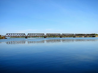 Batticaloa Lagoon - Image: Kallady Bridge Batticaloa