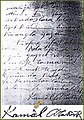 Kamâl Atatürk'ün Zafer Destroyeri'nin hatıra defterindeki yazıları ve imzası.jpg