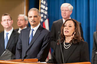 Kamala Harris - Harris speaking at a US Department of Justice event