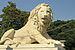Kamienny lew na dziedzińcu pałacu w Ałupce.JPG