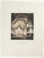 Karl XIV Johans begravning i Riddarholmskyrkan 26 april 1844. Litografi av Johan Fredrik Meyer - Skoklosters slott - 97945.tif