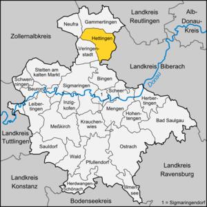 Hettingen - Image: Karte Hettingen