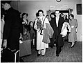 Katharine Hepburn and Robert Helpmann arrive at Kingsford Smith Airport, Sydney, 1955 - Australian Photographic Agency (APA) Collection (3363897345).jpg