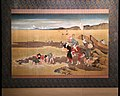 Katsushika Hokusai, raccolta di molluschi a ebb tide, 1813, su seta, 02.jpg