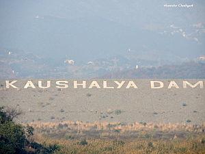 Kaushalya river - Kaushalya dam near Pinjore