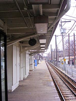 Kedzie station (CTA Brown Line) - Kedzie Station before rebuilding