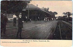 Kennebunk station - Kennebunk station around 1910, at which time it was the junction for the branch line to Kennebunkport