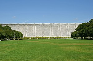 Kensico dam, in Valhalla, New York, USA