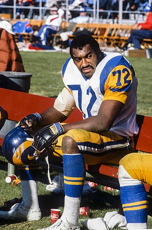 Kent Hill - Kent Hill at a Rams-Falcons game, 1982