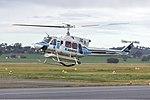 Kestrel (VH-KHY) Bell 212 departing Wagga Wagga Airport.jpg