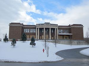 Keyser, West Virginia - The old Keyser High School in January 2014