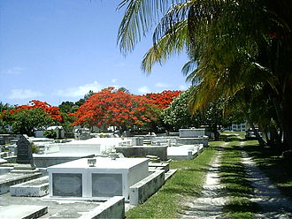 Key West Cemetery - Some newer graves are put in above-ground vaults, similar to the cemeteries in New Orleans, since the space for below-ground burials has become increasingly limited.  Photo: Marc Averette