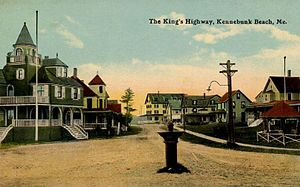 Kennebunk, Maine - The King's Highway c. 1912, Kennebunk Beach