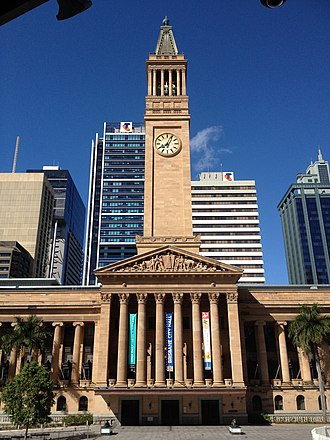 Brisbane City Hall - Brisbane City Hall  (view from King George Square)