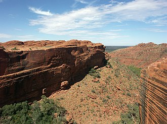 Kings Canyon (Northern Territory) - Overview of Kings Canyon from the Rim Walk.