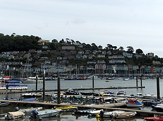 Kingswear - Kinsgwear, seen across the River Dart from Dartmouth