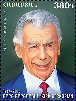 Kirk Kerkorian 2017 stamp of Armenia.jpg