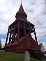Klockstapeln vid Ovikens gamla kyrka..jpg
